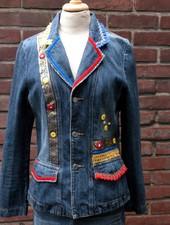 HanneHaves Spijkerblazer red, bleu, yellow maat 38