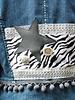 HanneHaves Spijkerjack zebra & leer maat 38