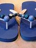 HanneHaves Teenslippers Blue/silver maat 38/39