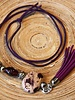 HanneHaves Ibiza ketting Purple/Sand Stone met kwastje