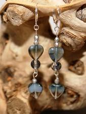 HanneHaves Oorringen Opal Grey Heart
