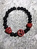 MensHaves Mannenarmband Stone Peace Red
