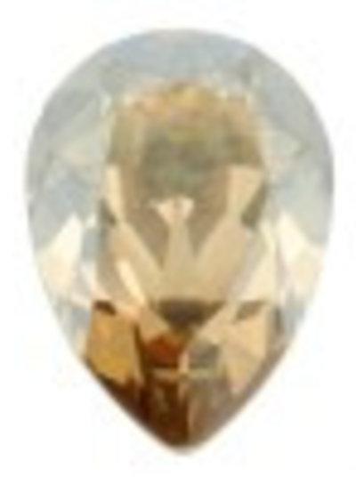 HanneHaves Oorbel Swarovski Drop Golden Shine