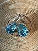 HanneHaves Oorbel Swarovski Drop Light Turquoise