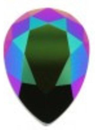 HanneHaves Oorbel Swarovski Drop Scarabeus Green Silver