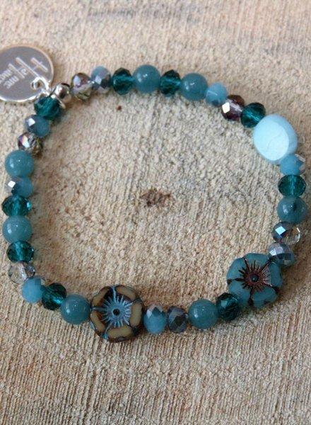 HanneHaves Bohemien Armband Turquoise mix