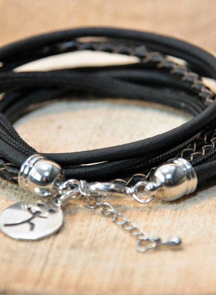 Bynookz Stoere wrapbracelet Black