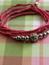 HanneHaves Zijden wikkelarmband Soft Pink