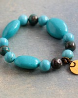 HanneHaves Armband Turquoise Grote steen