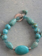 HanneHaves Armband Turquoise Howliet Big Rock