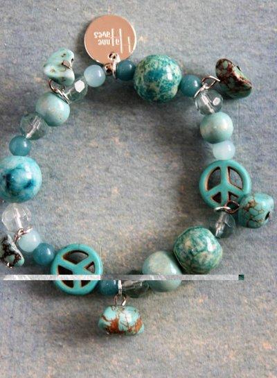 Ibiza Dances Armband Bleu Peace