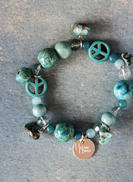 Ibiza Dances Armband Bleu Peace