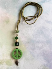 HanneHaves Ibiza ketting  Green Peace Leaf