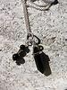 HanneHaves Lange ketting zilver zwarte Agaat pendant