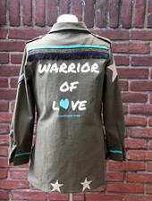 Ibiza Dances Warrior of Love Army Jacket Stars S
