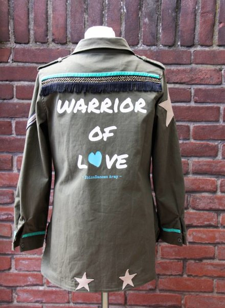 Ibiza Dances Warrior of Love Army Jacket Stars S