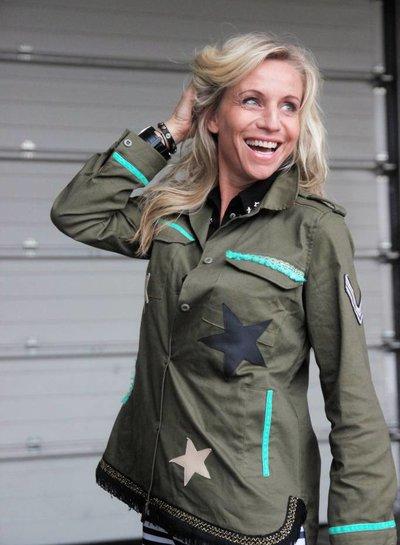 Ibiza Dances Warrior of Love Army Jacket Stars S IbizaDances