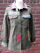 Ibiza Dances Warrior of Love Army Jacket PinkBoho S