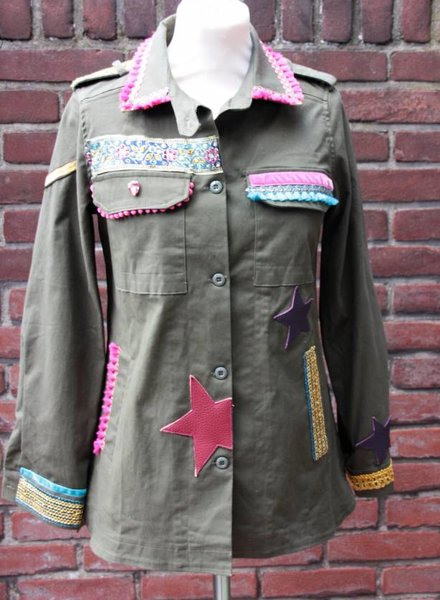 Ibiza Dances Warrior of Love Army Jacket PinkBoho S