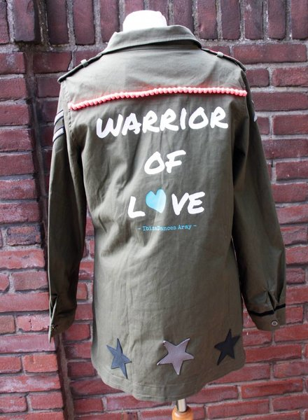 Ibiza Dances Warrior of Love Army Jacket BlackOrange M