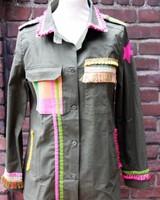 Ibiza Dances Warrior of Love Army Jacket PinkYellow L