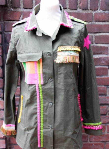 Ibiza Dances Warrior of Love Army Jacket PinkYellow L