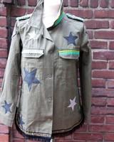 Ibiza Dances Warrior of Love Army Jacket 3 Stars L