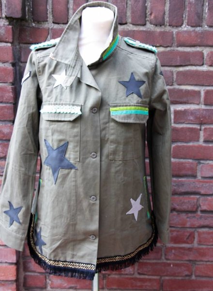 Ibiza Dances Warrior of Love Army Jacket 3 Stars L
