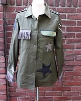 Ibiza Dances Warrior of Love Army Jacket Taupe Stars M