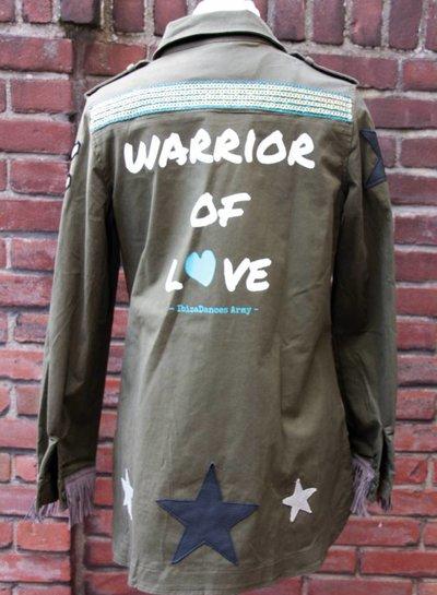 Ibiza Dances Warrior of Love Army Jacket BlackOrange M IbizaDances