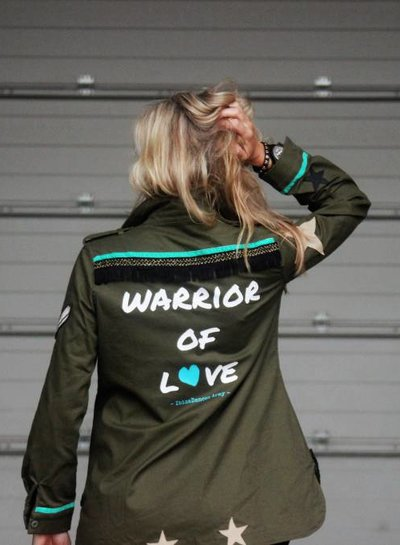 Ibiza Dances Warrior of Love Army Jacket Brown Black  IbizaDances