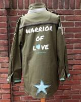 Ibiza Dances Warrior of Love Army Jacket 3 Stars Back XL