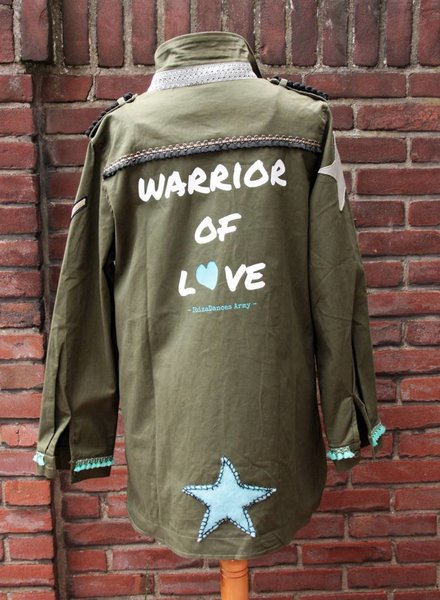 Ibiza Dances Warrior of Love Army Jacket 3 Stars Back XL