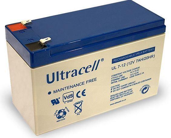 Ultracell 12V, 7 Ah Loodaccu UltraCell UL7-12