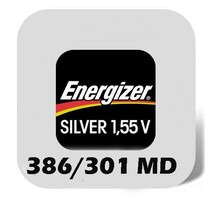 386 - 301 horloge batterij SR1142SW Energizer