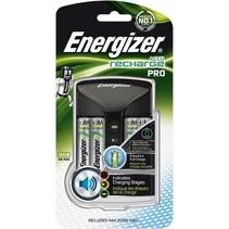 Batterij lader Pro inc 4 x NiMh 2000 mAh AA penlite Energizer