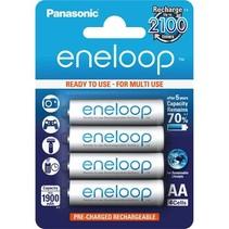 Oplaadbare AA batterijen 1900 mAh 4 stuks Eneloop
