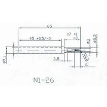 Vervangingstip voor HQ-SOLDER20/30 ø 0.3 mm