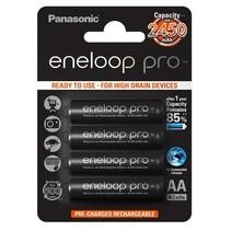 Oplaadbare AA batterijen 2500 mAh 4 stuks Eneloop Pro