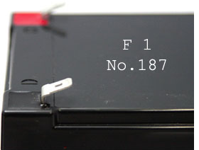 F1 connector faston 187 4.8 mm