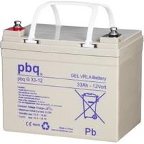 12V, 33 Ah Gel accu PBQ33-12 deep-cycle
