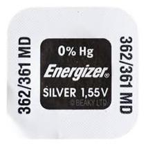 362 / 361 Horloge batterij SR721SW Energizer