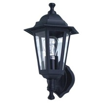 Wandlamp Buiten 60 W Zwart