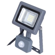 LED Floodlight met Sensor 10 W 750 lm Grijs