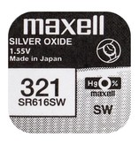 Maxell SR616SW  horloge Batterij 321 Maxell