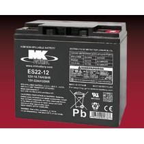 12 volt 22 Ah AGM loodaccu MK Battery