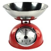 Keukenweegschaal Rood/Zilver Analoog
