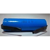 ICR14500 Oplaadbaar Li-ion 3.7V 600mAh soldeerlip U