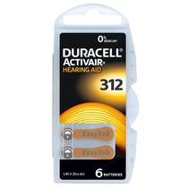 hoorbatterij 312 Bruin 6 stuks - Duracell