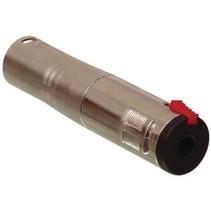 XLR-Adapter XLR 3-Pins Male - 6.35 mm Female Zilver